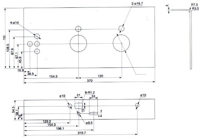 FN12-12DR/630负荷开关尺寸图