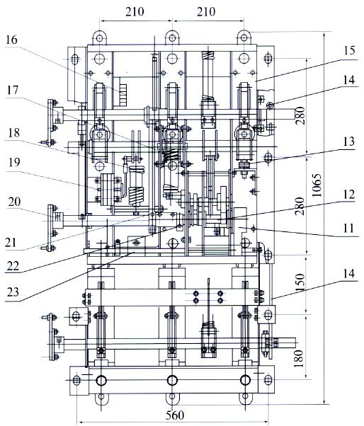 fn16a-12d/630真空负荷开关安装尺寸